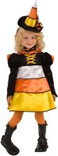 CANDY CORN WITCH GIRLS CHILD HALLOWEEN COSTUME RUBIES CUTE ADORABLE  WITCH