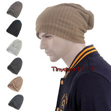Men Women Winter Loose Beanie Baggy Slouch Knit Skull Ski Stocking Hat Watch Cap
