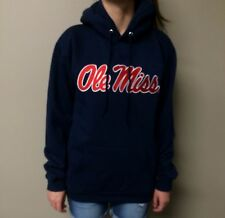 Ole Miss Rebels Team Apparel Adult Pullover Unisex Navy Hoodie