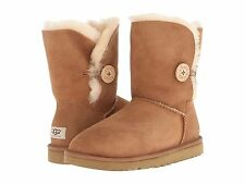 UGG Australia Bailey Button Womens Winter Boots Chestnut Brown Sheepskin 5803