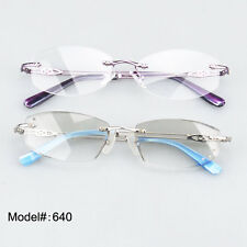 640 Beauty rimless delicate alloy optical frames RX eyewear eyeglasses frames
