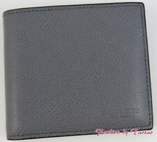 NWT COACH F 74981 MENS COIN CASE Crossgain Leather WALLET Black or Ash