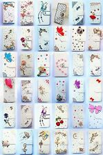 Bling Diamond Wallet Card Holder PU Leather flip Case Cover For HTC Desire 626