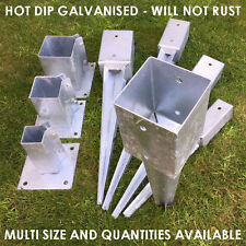 FENCE POST SPIKE HOLDER 75MM METAL HOLDERS STAKES GARDEN DRIVE IN FENCE SPIKE