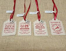 VINTAGE CHRISTMAS GIFT TAG  DO NOT OPEN REINDEER XMAS  TAGS PRESENT