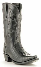 Lucchese Since 1883 M1636.S54 Mens Black Caiman Crocodile Belly Cowboy Boots