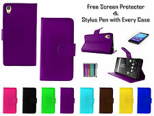Leather PU Wallet Book Flip Case Cover Holder Pouch For Sony Xperia Z5 Premium