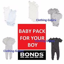 BONDS BABY BOY 10 PIECE PACK COTTON WONDERSUIT SINGLETS SINGLET VEST BODYSUIT