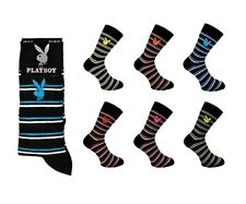 Mens Playboy Striped Socks Size 6-11 EU 39-45 Assorted Pairs Gift Fathers Lot