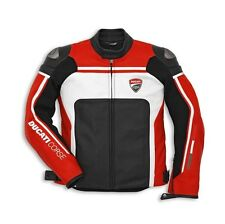 Ducati Corse Perforated Leather Riding Jacket - Red  9810216