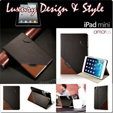 Etui Coque Housse CUIR AMORUS APPLE iPad mini 1 2 3 LEATHER CASE COVER CAJA