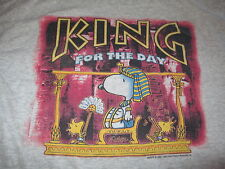 """Peanuts SNOOPY & WOODSTOCK """"KING FOR THE DAY"""" (LARGE) T-Shirt"""