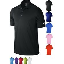 Mens Nike Golf Dri Fit Stripe Polo Neck Knit Colour Short Sleeve Shirt Top
