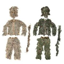 Ghillie Suit Camo Woodland Camouflage Forest Hunting 4-Piece+Bag 60ER
