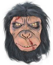 Monkey Mask Battle War Fighter Warrior Planet Apes Halloween Latex Fur Brown