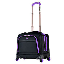 Olympia Purple Ballistic Polyester Deluxe Spinner 15-inch Laptop Overnighter