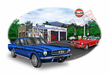 1965 Ford Mustang Muscle Car Art Print - 10 colors