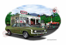 1969 Camaro SS 396 Garage Muscle Car Art Print - Green