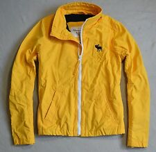 BNWT MEN'S ABERCROMBIE & FITCH YELLOW OUTERWEAR HOODIE JACKET SZ LARGE