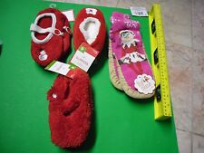 New Girls Slipper Socks Girls Slippers Shoes Size S/M one size fits most Fuzzy