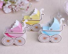 10Pcs Cute Stroller Shape Paper Candy Gift Boxes Baby Shower Wedding Party Favor