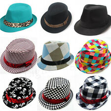 Baby Girl/Boy Toddler Kid Cap Fedora Hat Jazz Cap Photography Cotton Trilby Hot
