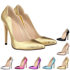 WOMENS GIRLS POINTED HIGH HEELS SMART WORK BRIDAL WEDDING COURT SHOES PUMPS