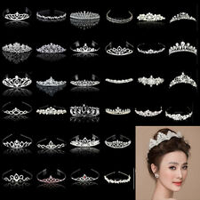 WEDDING BRIDAL CROWN TIARA Headband Bridesmaid Crystal Rhinestone Jewelry Party