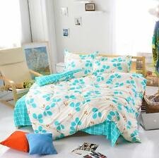 Leaves White Single Double Queen King Size Bed Set Pillowcases Quilt Duvet Cover
