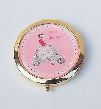 Retro Handbag Make Up Compact Mirror Mrs Smith Travel Gift for Her Vintage