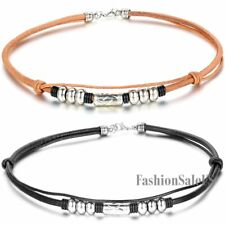 Retro Punk Leather Choker Cord Men's Women's Unisex Simple Hook Necklace Rope