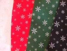 "Glitter Snowflake Felt Squares - 9""x12"" - Choice of Colours"