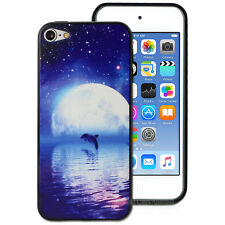 Dolphin Moon Hard Back Case for Apple iPod Touch 6 6th Gen itouch Cover