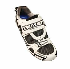 Louis Garneau Tri Lite Triathlon Cycling Shoes - White with Black