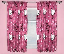 "HELLO KITTY SOMMERWIND PINK CURTAINS 66"" x 54"" 66"" x 72"" GIRLS KIDS BEDROOM NEW"