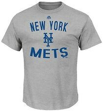 New York Mets MLB Majestic Authentic Edge Gray Tee Shirt Big And Tall Sizes