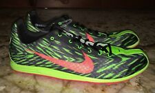 NIKE ZOOM RIVAL D 8 Lime Green Black Mid Distance Track Spikes NEW Mens 12.5
