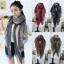Fashion Women Lady Girl Long Soft Cotton Print Scarves Shawl Wrap Neck Scarf 27