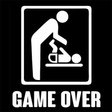 GAME OVER (happy new daddy gift dad day husband birthday adult college) T-SHIRT