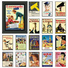 Vintage / Retro Signs A3 Posters Old Style wall home decor Prints