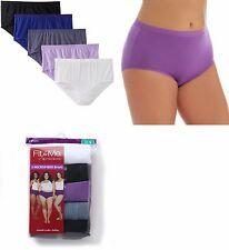 Fruit of the Loom Women's PLUS SIZE Microfiber Briefs 10-PACK VALUE!! FIT FOR ME