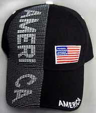 """America""  USA Baseball Caps Hats Embroidered 1Pc or Wholesale 6 Pcs (ECapUS75)"