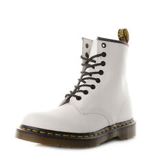 Dr Martens 1460 Leather Lace Up Smooth White Lace Up Ankle Boots Uk Size