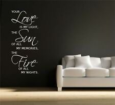 LOVE SUN FIRE WALL ART STICKER QUOTE DECAL MURAL GRAPHIC SELF ADHESIVE VINYL