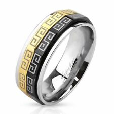 mens ladies Ring silver gold black 9 Size stainless steel jewelry by ALLFORYOU