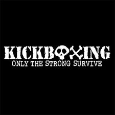 KICKBOXING ONLY THE STRONG SURVIVE (martial arts head guard gloves) T-SHIRT