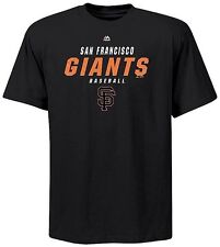 San Francisco Giants Majestic Quasy Synthetic Mens Black Shirt Big & Tall Sizes