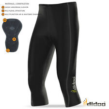 Mens New 3/4 Cycling Pant Coolmax padding cycle short Didoo Tights Bike Legging