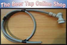 """3/8"""" Beer Gas 1m Pipe With Ball Lock Disconnect & John Guest Push-Fit Corny Keg"""
