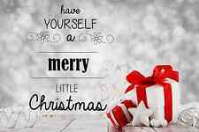 """Have yourself a merry little Christmas wall decal , black or white, 13"""" X 20"""""""